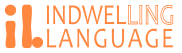 Indwelling Language Logo with text lighter orange 576